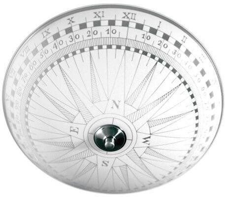 Takplafond med snyggt kompassmotiv.
